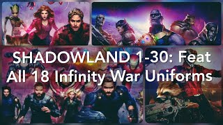 Shadowland 30 Floors 30 Characters: Feat All 18 Infinity war uniforms! - Marvel Future Fight