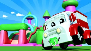 Baby Cars - The Bouncy Castle - One Zeez & Car City ! Cars and Trucks Cartoon for kids