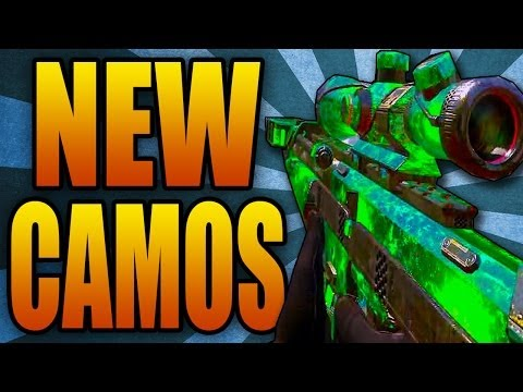 FOUR New Camos in Black Ops 2! Beast, Weaponized, Octane, & Dead Man's Hand (COD BO2 DLC Gameplay)