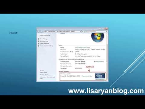 Windows 7 loader activator - Instant activation