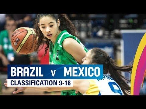 Brazil v Mexico - Classification 9-16 - 2014 FIBA U17 World Championship for women