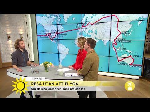 Han reste jorden runt – utan att flyga en enda gång - Nyhetsmorgon (TV4)