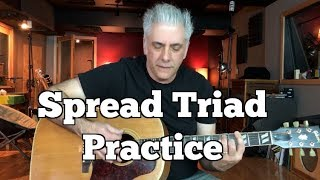 Spread Triad Practicing On The Guitar