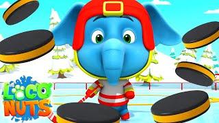 Хоккей на льду | мультфильмы для детей | веселые | Loco Nuts Russia | детские видео