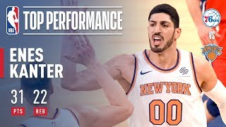Enes Kanter Career Game (31 pts, 22 rebs) On Christmas Day vs The 76ers