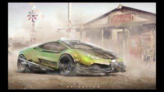 Speed Art - Lamborghini Huracán LP 610-4 a.k.a GreenHornet - RP. DESIGN