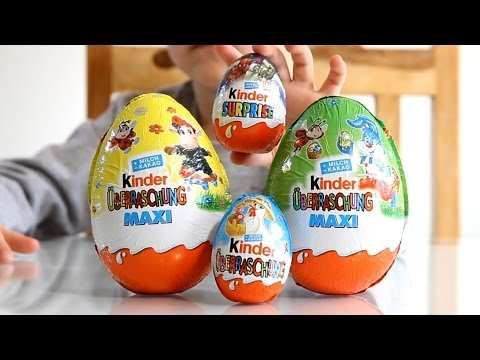 Kinder Surprise Easter Edition Big Eggs and Small Marvel Super Heroes from Kinder Egg