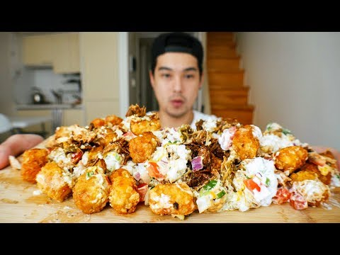 Loaded Mexican Tater Tots - MUKBANG thumbnail