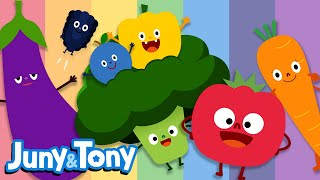 Colorful Fruits and Vegetables | Fruit&Veggie Songs for Kids | Preschool Songs | KizCastle
