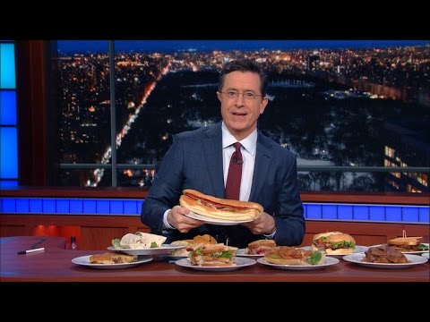 Stephen Colbert pulls off 11 puns in a row, starts @ 6:20