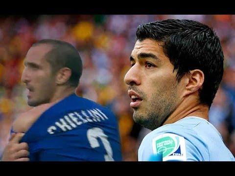 Suárez bites again   Chiellini adamant   2014 World Cup