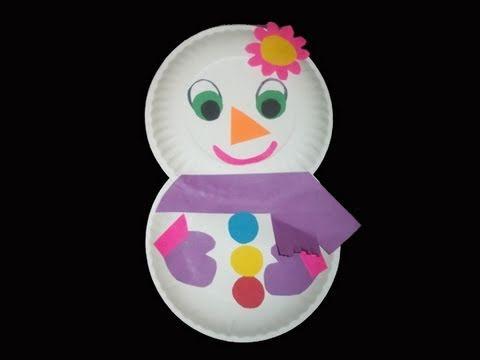 C�mo hacer una mu�eca de nieve con platos de papel