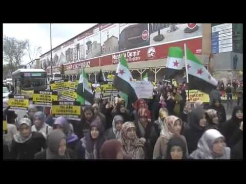 5196WD TURKEY-SYRIA ANNIVERSARY PROTEST