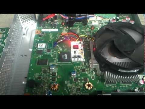 Xbox 360 slim JTAG - COOLRUNNER GLITCH CHIP installed - DEMO