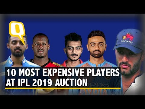 IPL Auction 2019: Most Expensive Players | The Quint