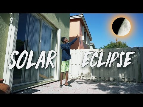 MY First Time Seeing a Solar Eclipse and I Made A Homemade Eclipse Viewer! ( Freaks Out )