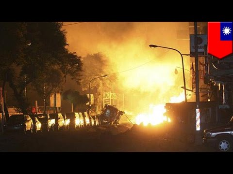 Taiwan gas explosion: massive gas explosions in Taiwan rip roads apart, kill 25