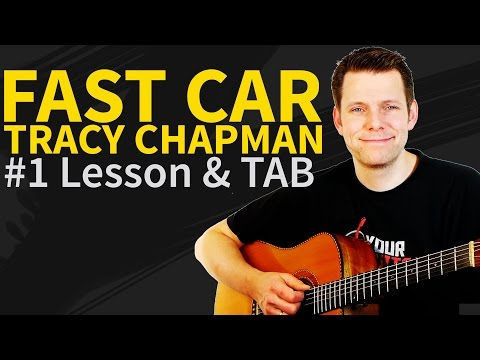 How To Play Fast Car Guitar Tutorial & TAB - Tracy Chapman