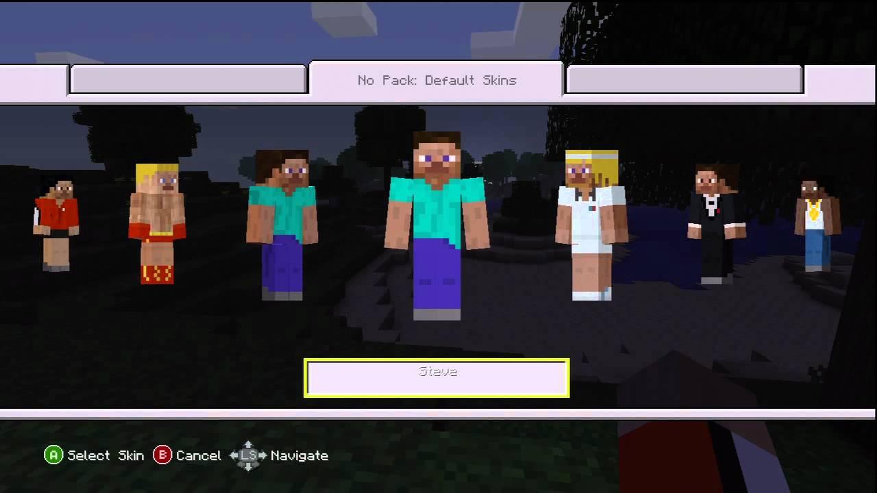 Xbox 360 Minecraft Default Skins Minecraft Xbox 360 Version