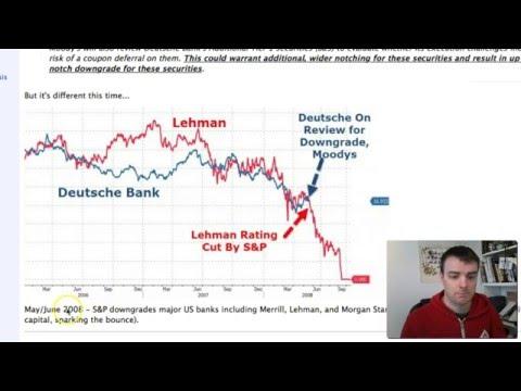 Deutsche Bank following Lehman brothers pattern - Moodys Downgrade spurs collapse