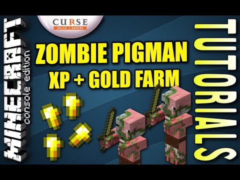 MINECRAFT - PS4 - ZOMBIE PIGMAN / GOLD FARM - TUTORIAL ( PE / PS3 / XBOX / WII U )