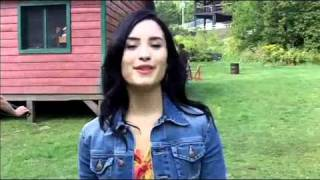 Demi on set of Camp Rock 2