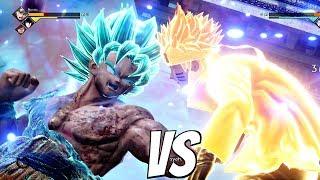 JUMP FORCE - Goku SSB Kaioken vs Naruto 1vs1 Gameplay (PS4 Pro)