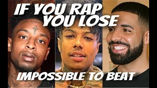 TRY NOT TO RAP! YOU RAP, YOU LOSE CHALLENGE (BLUE FACE, DRAKE, 21 SAVAGE AND MORE) EXPLICIT