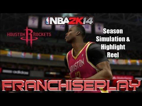 NBA 2K14 - Houston Rockets Highlights and 2013 14 Season Simulation Results