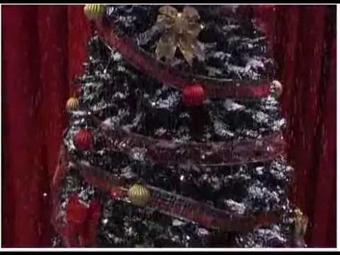 Rbol nevado para decoracion de navidad youtube - Decoracion de arboles de navidad ...