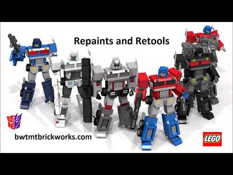 Lego Transformers   9 years of Optimus Primes by BWTMT Brickworks