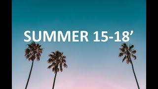 songs that will bring you back to summer 15  - 18'
