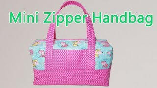 DIY MINI ZIPPER HANDBAG | BOX BAG TUTORIAL | BAG MAKING | Coudre un sac | Bolsa diy