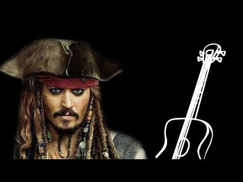 Пираты Карибского Моря на гитаре на одной струне