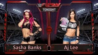 Wwe 2k15 -  Aj Lee Vs. Sasha Banks