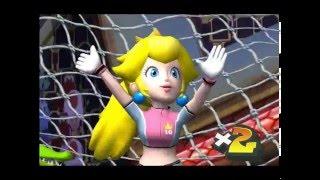 Super Mario Strikers - Peach vs Luigi