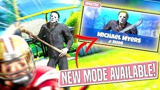 *NEW GAMEMODE* MICHAEL MYERS Custom Gamemode in Fortnite NFL Game! (HE'S BEHIND YOU!)