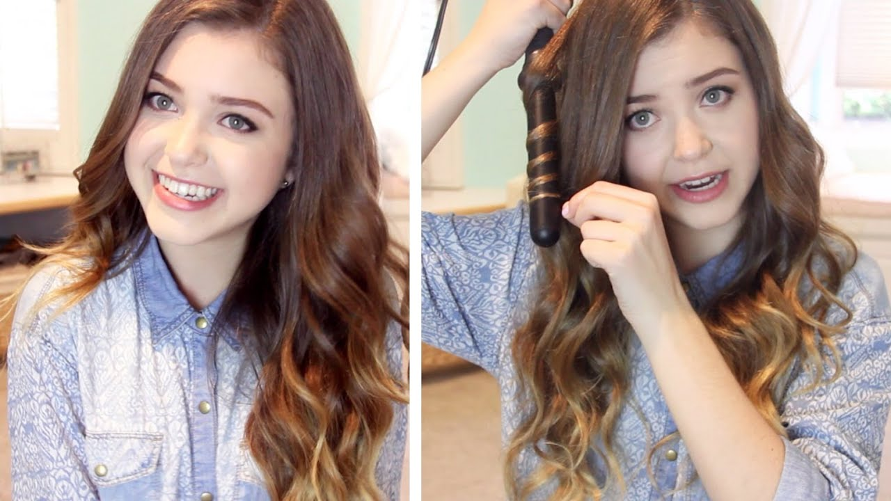 How I Curl My Hair Loose Wavy Curls Lindseyrem Youtube