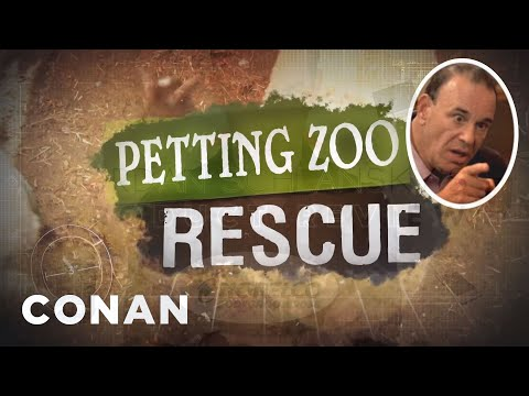 Introducing petting Zoo Rescue  - Conan On Tbs video