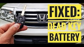 Honda Key Fob Battery Change - How to DIY Learning Tutorials