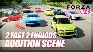 Forza Horizon 4 - 2 Fast 2 Furious Recreation! (Audition Scene)