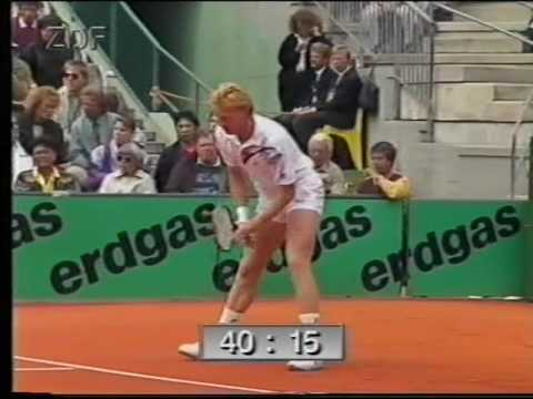 1990 - Hamburg Final (Tennis) - Aguilera vs Becker - Part 01
