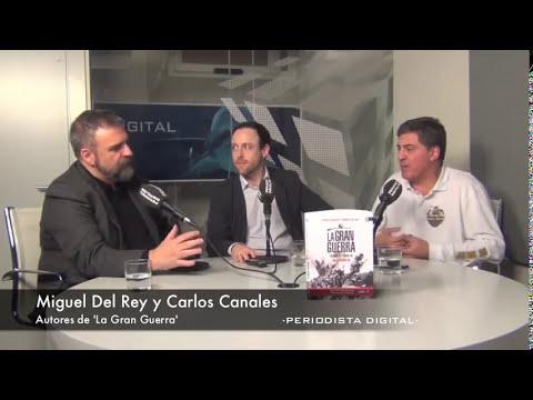 Miguel del Rey y Carlos Canales, autores de 'La Gran Guerra'. 27-2-2014
