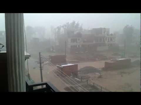 monsoon in India. Massive rain showers