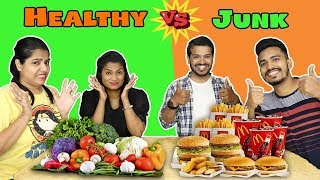 Healthy Food Vs Junk Food Challenge Part -2 | Hungry Birds
