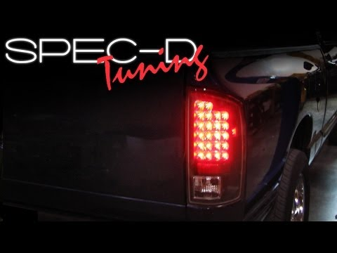 SPECDTUNING INSTALLATION VIDEO: 2002-2005 DODGE RAM LED TAIL LIGHTS