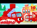 Fire Truck Morphle VS the Real Fire Truck - My Magic Pet Morphle Superhero animation episodes