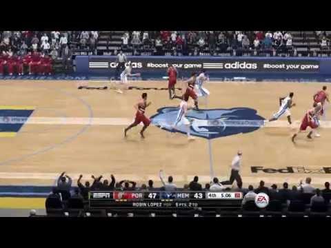 NBA Playoffs 2015 - Portland Trail Blazers vs Memphis Grizzlies - 4th Qrt - NBA LIVE 15 PS4 - HD