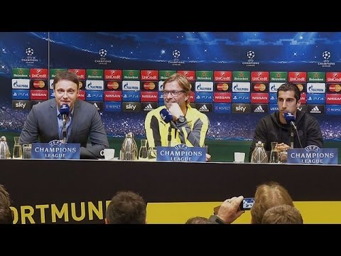 Pressekonferenz: Jürgen Klopp und Henrikh Mkhitaryan vor dem Spiel BVB - FC Arsenal | BVB