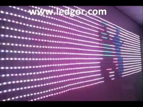 Animated LED lighting display RGB LED Strip programmable controller - China Ledgor - YouTube